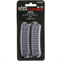 Kato 20-121 Rail Courbe / Curve Track R315mm 15° 4pcs - N