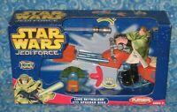 New Luke Skywalker with Speeder Bike Playskool Jedi Force Figure Set in Box 2004