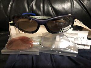 Optic Nerve Sequencer 2-Lens Interchangeable Half Frame Lightweight Sunglasses,