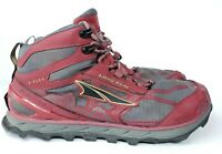 Altra Lone Peak 4 Mid Mens Size 13 Trail Hiking Boots Red/Gray Fast Shipping!!