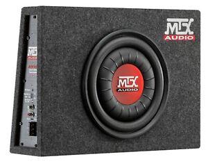 "MTX RTF10P Slim 10"" 600 Watts Amplified Active Car Subwoofer Box Bass Controller"