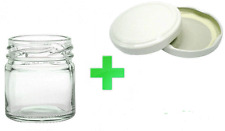 Kit  20 Barattoli barattolo vasetto vasetti monodose con tappo mignon 40 ml