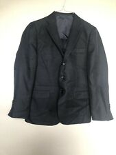 Bocaccio Uomo Man Set Suit Vest And Pants Size 14R Black Long Sleeves 3 Pieces
