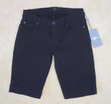 NWT 7 For All Mankind Womens Size 26 Bermuda Shorts Black