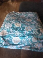 Lands End Cotton Flannel  Duvet Cover King Size Tuqoise
