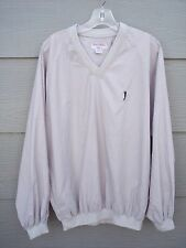 "Munsingwear Golf Mens Sweater Sz M 50"" Chest Beige V-neck Windbreaker Top Shirt"