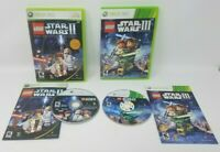 Lego Star Wars 2 and 3 Xbox 360 Games Lot of 2 Both Complete Tested and Working!