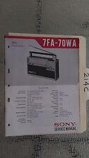 Sony 7fa-70wa service manual original repair book transistor am fm radio