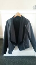 black faux leather jacket size 16 new look