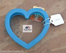 Turquoise heart shaped plastic curry~New!