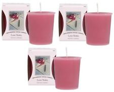 Pack of 3 Love Notes Bridgewater Scented Fragrance Votive Candles