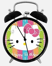 "Hello Kitty Happy Birthday Alarm Clock 3.75"" Room Office Decor W36 Nice For Gift"