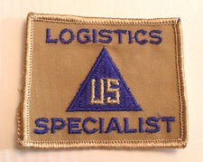 """VN ARMY """"LOGISTICS SPECIALIST US"""" NON COMBATANT PATCH TAN TWILL W/ LIGHT TAN ME"""