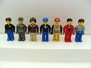 8 LEGO JACK STONE MINIFIGS LOT figures junior minifigures police fire