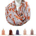 Fashion Women's Fox Animal Print Long Scarf Shawl Voile Ladies Wrap Scarves New