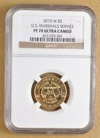 2015 W $5 Gold U.S. Marshals Service Commemorative NGC PF 70 Ultra Cameo