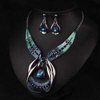 Crystal Choker Chunky Jewelry Statement Women Chain Pendant Bib Necklace New