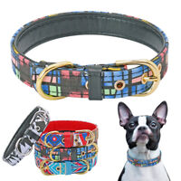 Soft Padded Printing Pet Dog Collars Adjustable for Small Medium Dogs Dachshund