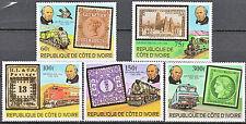"""COTE d'Ivoire N° 504/8 et BF n° 14 de 1979 neufs** TTB """"les locomotives"""""""