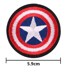 Avengers Captain America Shield Embroidered Iron ON Patch Badge 2.3""