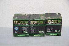 HIFLO FILTRO - 3 Filtres a Huile Moto HF142 - YAMAHA 1UY i - TM RACING 250 4T