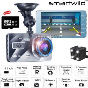 32GB Car DVR Camera 1080P Dual Lens Dash Cam Front&Rear Video Recorder G-Sensor