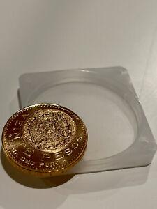 1959 20 PESOS MEXICAN GOLD COIN UNCIRCULATED VEINTE PESOS! Pristine MEXICO ORO.