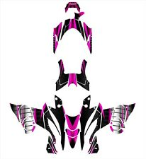 YAMAHA NYTRO 2008-13 Snowmobile Graphics Wrap kit #1900 Hot Pink
