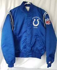 Vintage Starter Indianapolis Colts Satin Blue Jacket Coat Size Large