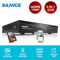 SANNCE 16CH 1080N DVR Digital Video Recorder for Home Security Camera System 2TB