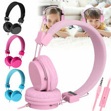 Over the Ear Wired Kids Headphones on Ear Headsets for iPad Tablets PC Laptops