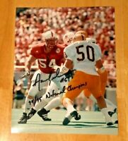 NEBRASKA FOOTBALL AARON GRAHAM #54 SIGNED PHOTO 1994/1995 NATIONAL CHAMPIONSHIP