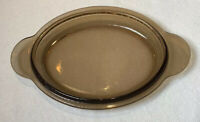 CORNING Smoky Amber VISION WARE OVAL LID ONLY PYREX  LID P-14-C Replacement