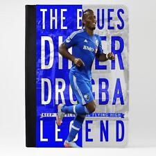 Funda De Cuero Tablet Didier Drogba iPad Cubierta de fútbol Legend Regalo LG23