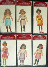 R. Tuck Collectible Paper Dolls by Shackman 1987 Lot of 6 Nip