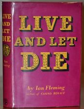 1ST/1ST ED W. NR FINE ORIGINAL 2ND STATE JACKET~LIVE AND LET DIE~IAN FLEMING