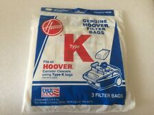 Hoover Canister type K filter bags. New sealed 3 count package. 4010028K