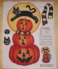 Scary Night Cat  Daisy Kingdom Halloween Fabric Panel Wall or Door Hanging