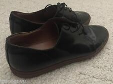 Common Projects Men Black Shoes Brown Soles Varnished Size 42 Us 9.5