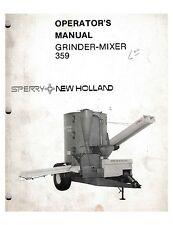 new holland 352 grinder mixer operators manual