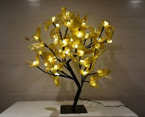 KASCO BONSAI CHRISTMAS GOLD HOLLY TREE WARM WHITE LED tree 45 cm 48 LIGHTS