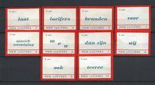 "Made in Holland ""MEW"" Complete Set of 10 Vintage Matchbox Labels Rare"