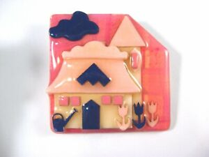 House Pins by Lucinda ~Cottage Tulips Watering Can, Pink Purple