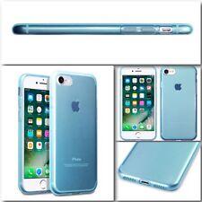 Original Apple iPhone 7 Funda Cubierta De Roca Genuino Tech 2 Flex TPU Gel Bumper Azul