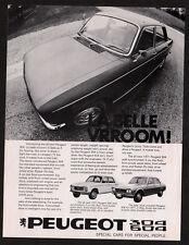 1971 PEUGEOT 504 & 304 Vintage Original Print AD photo canadian La belle vrroomm