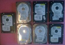 1 Lot of 7 Western Digital WD800JD 80GB SATA Hard Drive 3.5 Used