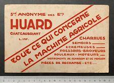 Buvard Huard / Châteaubriant / Machine Agricole / Blotter