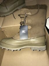 NEW MENS SOREL CARIBOU LINED WINTER  BOOTS WATERPROOF AUTUMN BRONZE BROWN SIZE 9