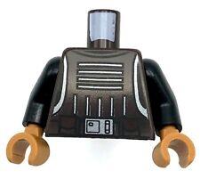 Lego New Dark Brown Star Wars Torso Vest Body Armor 4 Straps Buckles Belt