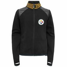 Outerstuff NFL Football Youth Girls Pittsburgh Steelers Aviator Full Zip Jacket